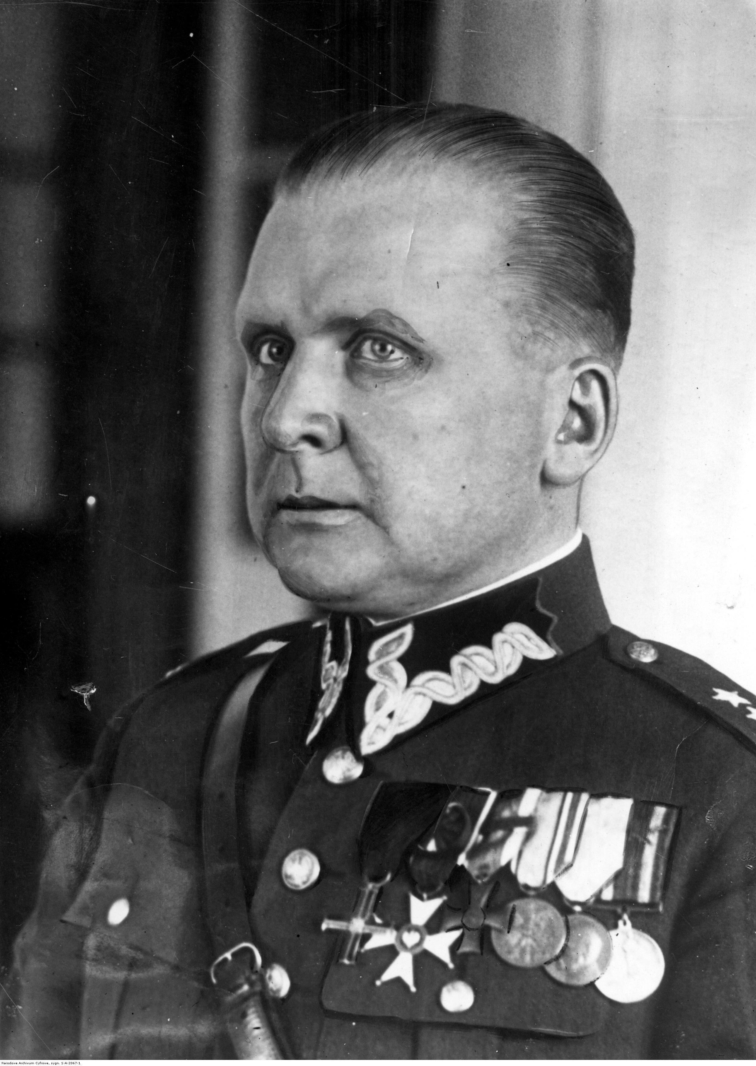 Opis obrazu: Emil Kaliński, minister poczt i telegrafów. Fotografia portretowa. - PIC_1-A-2067-1