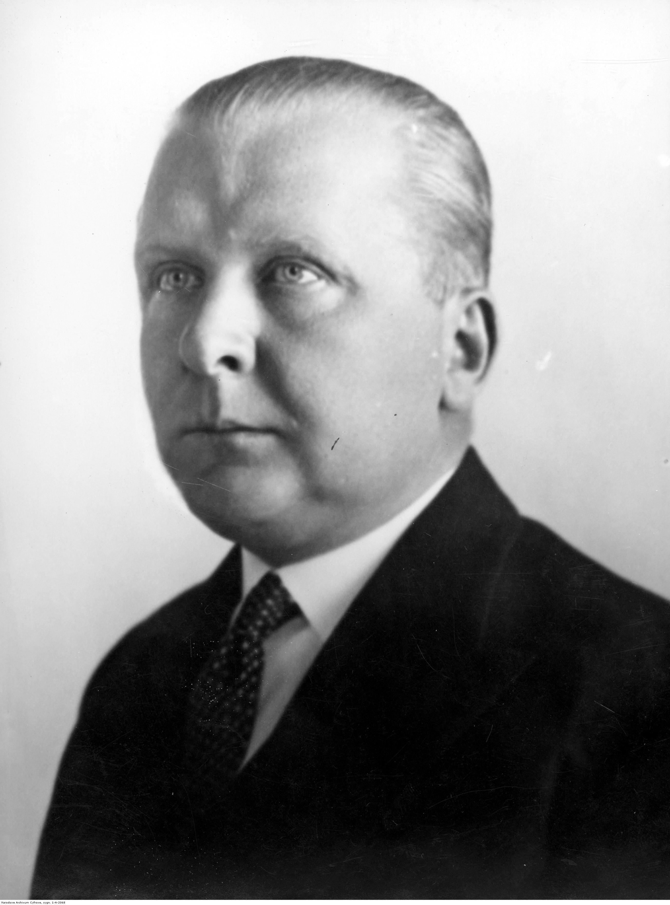 Opis obrazu: Emil Kaliński, minister poczt i telegrafów. Fotografia portretowa. - PIC_1-A-2068
